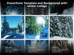 Powerpoint Template And Background With Winter Collage