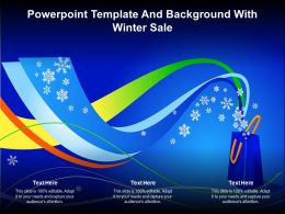 Powerpoint Template And Background With Winter Sale