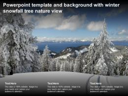 Powerpoint Template And Background With Winter Snowfall Tree Nature View