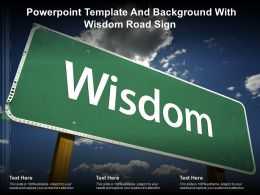 Powerpoint Template And Background With Wisdom Road Sign