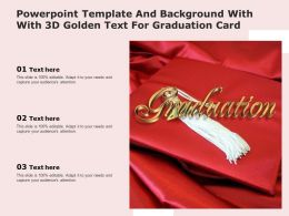 Powerpoint Template And Background With With 3d Golden Text For Graduation Card