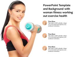 Powerpoint Template And Background With Woman Fitness Working Out Exercise Health