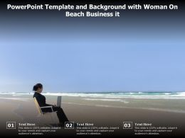 Powerpoint Template And Background With Woman On Beach Business It