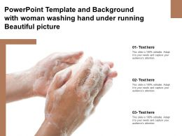Powerpoint Template And Background With Woman Washing Hand Under Running Beautiful Picture