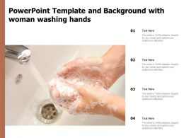 Powerpoint Template And Background With Woman Washing Hands