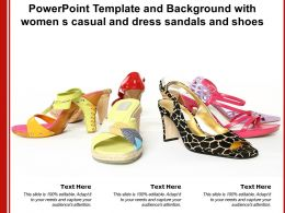 Powerpoint Template And Background With Women S Casual And Dress Sandals And Shoes