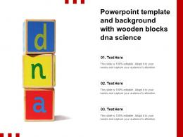 Powerpoint Template And Background With Wooden Blocks DNA Science