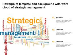 Powerpoint Template And Background With Word Cloud Of Strategic Management