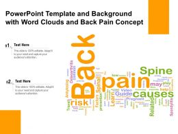 Powerpoint Template And Background With Word Clouds And Back Pain Concept