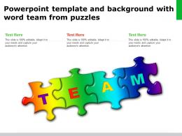 Powerpoint Template And Background With Word Team From Puzzles