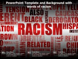 Powerpoint Template And Background With Words Of Racism