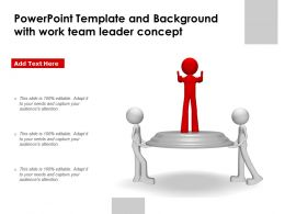 Powerpoint Template And Background With Work Team Leader Concept