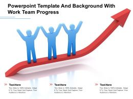 Powerpoint Template And Background With Work Team Progress
