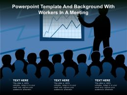 Powerpoint Template And Background With Workers In A Meeting