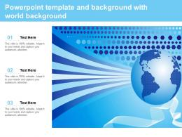 Powerpoint Template And Background With World Background