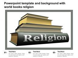 Powerpoint Template And Background With World Books Religion