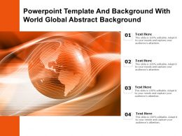 Powerpoint Template And Background With World Global Abstract Background