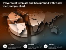 Powerpoint Template And Background With World Map And Pie Chart