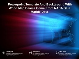 Powerpoint Template And Background With World Map Beams Come From Nasa Blue Marble Data