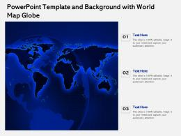 Powerpoint Template And Background With World Map Globe