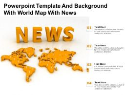 Powerpoint Template And Background With World Map With News