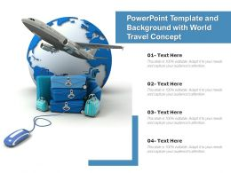 Powerpoint Template And Background With World Travel Concept