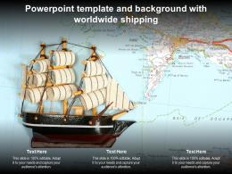 Powerpoint Template And Background With Worldwide Shipping