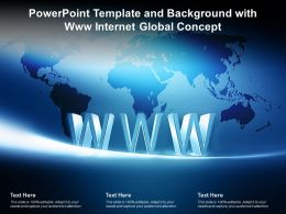 Powerpoint Template And Background With Www Internet Global Concept