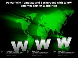 Powerpoint Template And Background With Www Internet Sign Or World Map