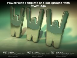 Powerpoint Template And Background With Www Logo