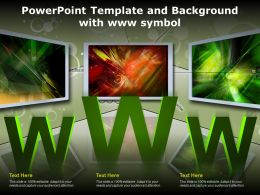 Powerpoint Template And Background With Www Symbol