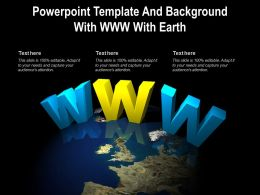 Powerpoint Template And Background With Www With Earth