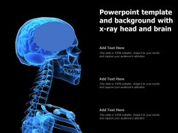 Powerpoint Template And Background With X Ray Head And Brain