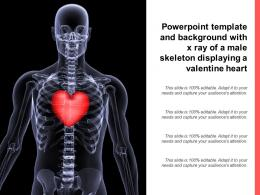 Powerpoint Template And Background With X Ray Of A Male Skeleton Displaying A Valentine Heart
