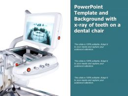 Powerpoint Template And Background With X Ray Of Teeth On A Dental Chair