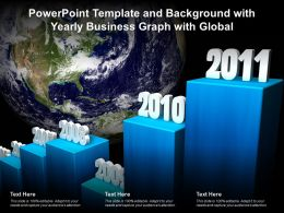 Powerpoint Template And Background With Yearly Business Graph With Global