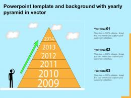 Powerpoint Template And Background With Yearly Pyramid In Vector