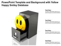 Powerpoint Template And Background With Yellow Happy Smiley Database