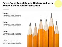 Powerpoint Template And Background With Yellow School Pencils Education