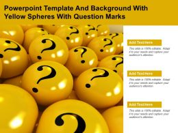 Powerpoint Template And Background With Yellow Spheres With Question Marks
