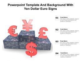 Powerpoint Template And Background With Yen Dollar Euro Signs