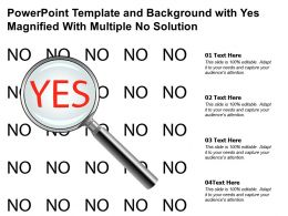 Powerpoint Template And Background With Yes Magnified With Multiple No Solution