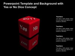 Powerpoint Template And Background With Yes Or No Dice Concept