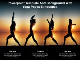 Powerpoint Template And Background With Yoga Poses Silhouettes