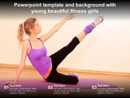 Powerpoint Template And Background With Young Beautiful Fitness Girls