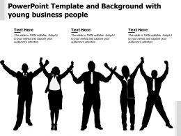 Powerpoint Template And Background With Young Business People
