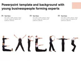 Powerpoint Template And Background With Young Businesspeople Forming Experts