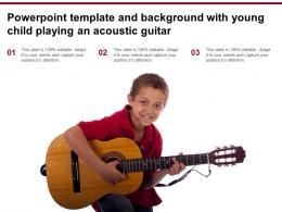 Powerpoint Template And Background With Young Child Playing An Acoustic Guitar
