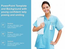 Powerpoint Template And Background With Young Confident Lady Posing And Smiling