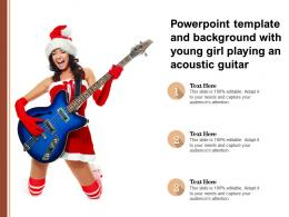 Powerpoint Template And Background With Young Girl Playing An Acoustic Guitar